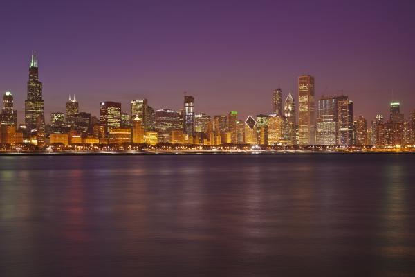 Incredible skyline at night