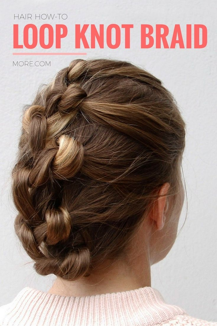 This gorgeous loop knot braid is actually super easy to diy