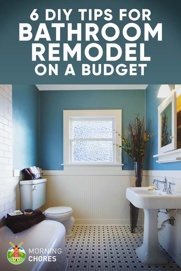 9 tips for diy bathroom remodel on a budget and 6 d cor ideas rh pinterest com Projects Bathrooms DIY My Small Bathroom Remodel