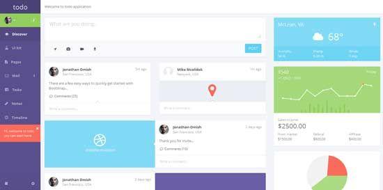 free premium admin panel dashboard templates website