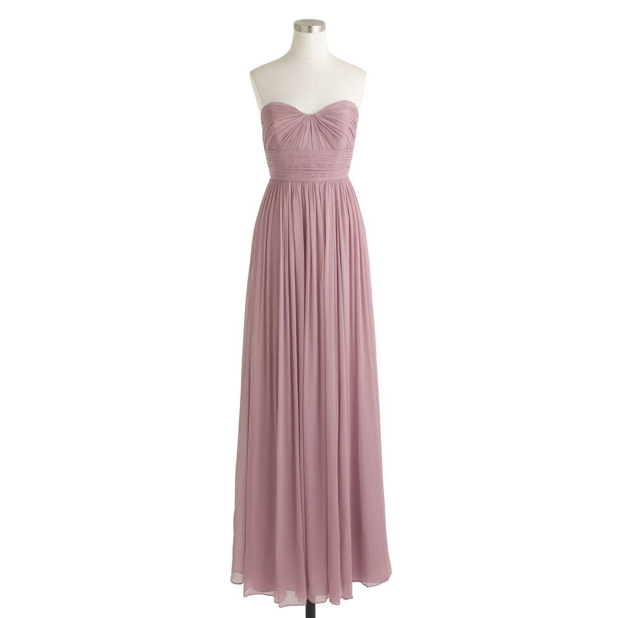 J.Crew Womens Marbella Long Dress In Silk Chiffon (Size 00 ...