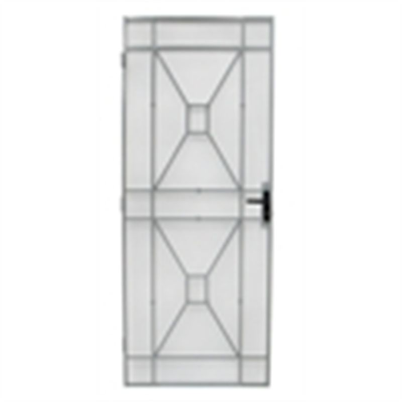 Bastion 2032 X 813mm White Sutton Metric Steel Frame Screen Door Screen Door Steel Frame Security Screen Door