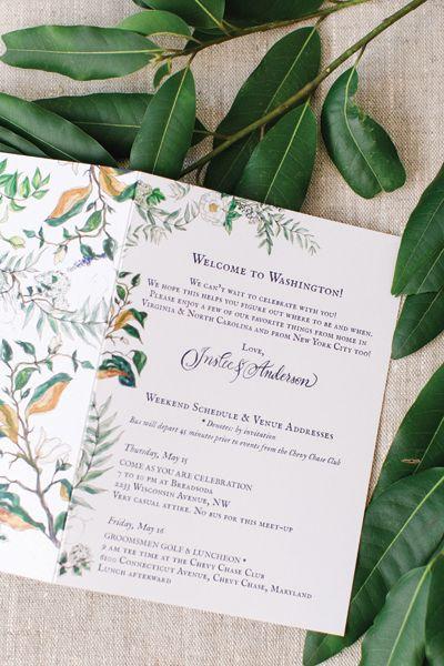 illustrated ceremony program | Kate Headley