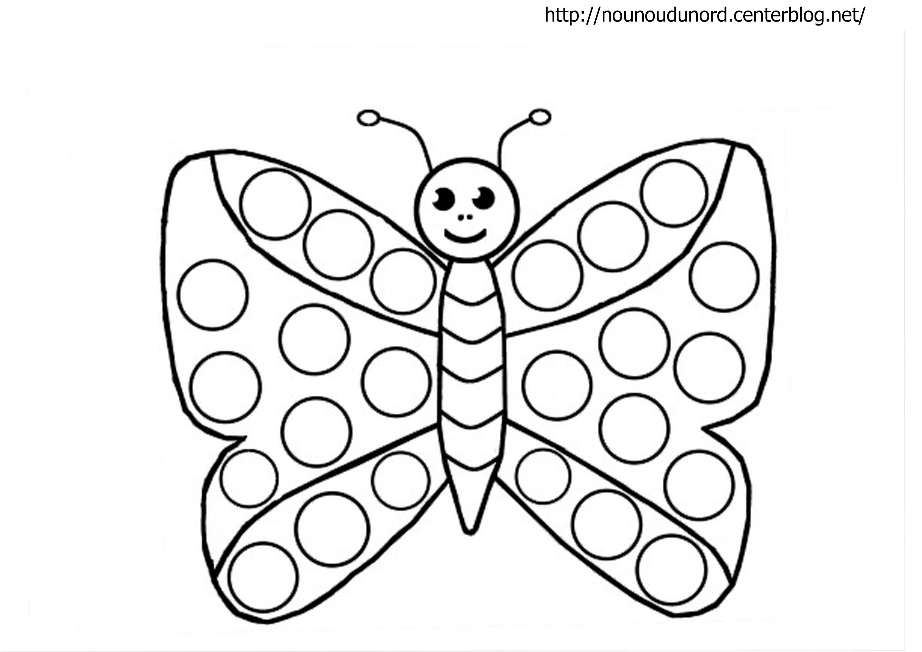 Papillon Gommettes Coloriage Papillon Coloriage Et
