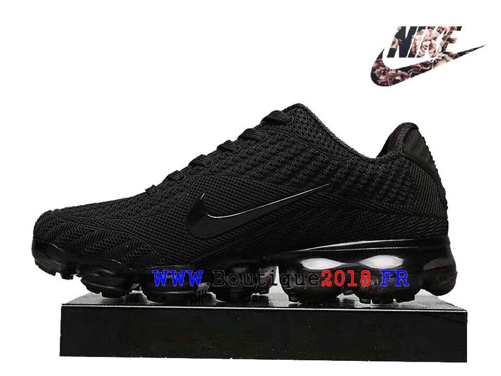 best service 33257 4fcb3 Nike Air VaporMax 2018 Flyknit Nouveauté Fashion Sports Chaussures Pas cher  Homme Panda Noir