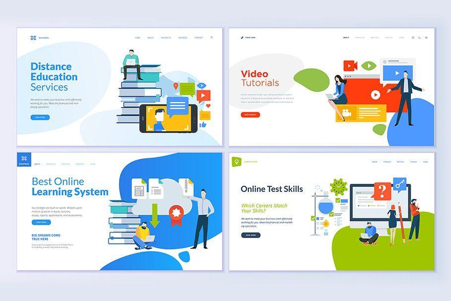 Web Design Templates For Education Web Template Design Page Design Template Design