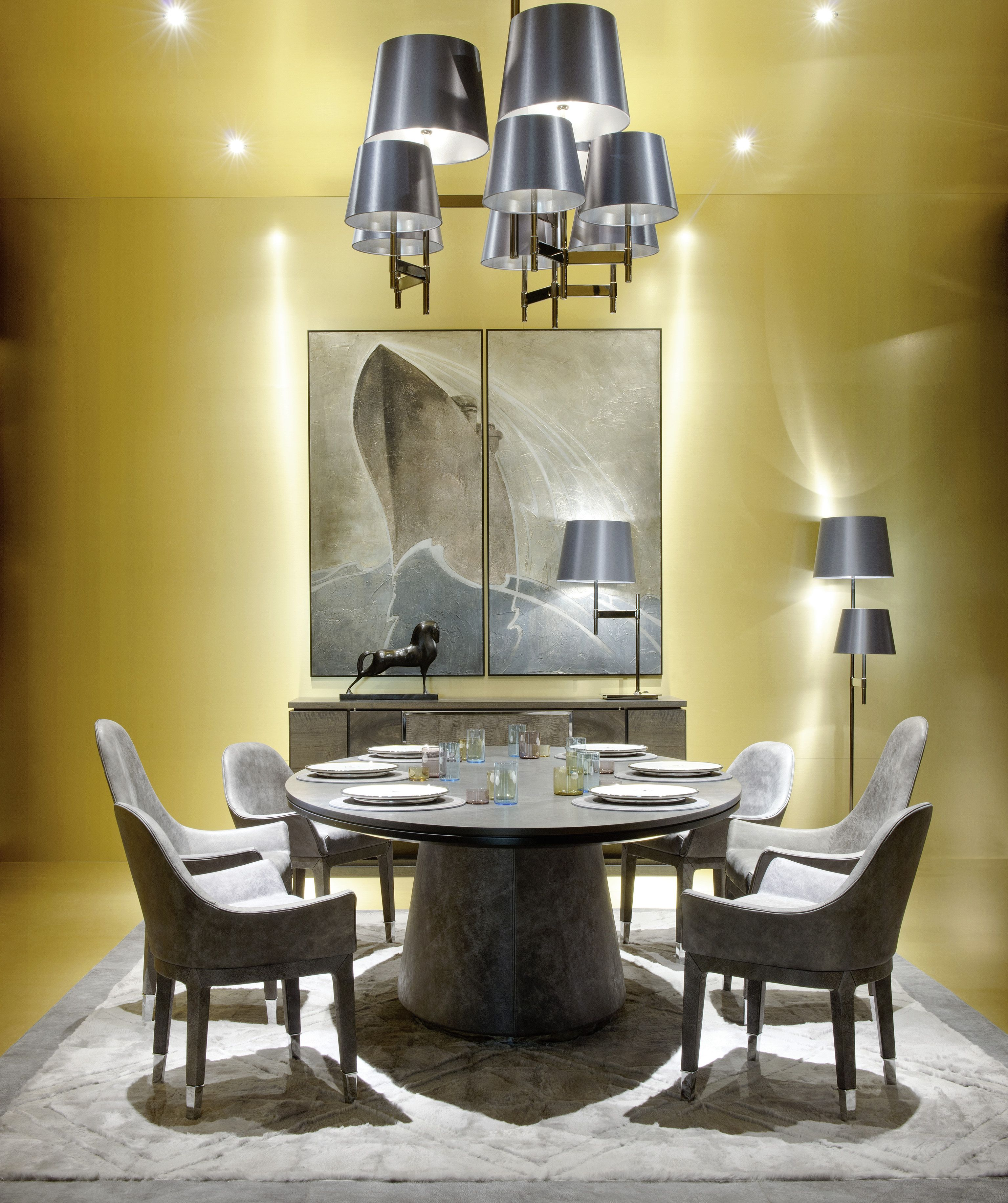 Daytona Oval High Table Manta High And Low Chairs In Grey Africa Leather Contemporary Furniture Design Furniture Design Furniture