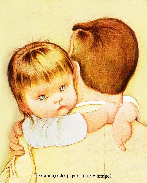 """Desenho de Eloise Wilkin para o livro infantil """"God"""" em 1956"""