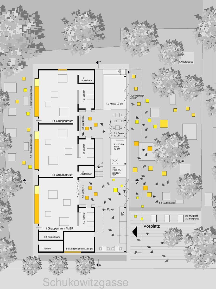 Kindergarten Schukowitzgasse Wien Kindergarten design