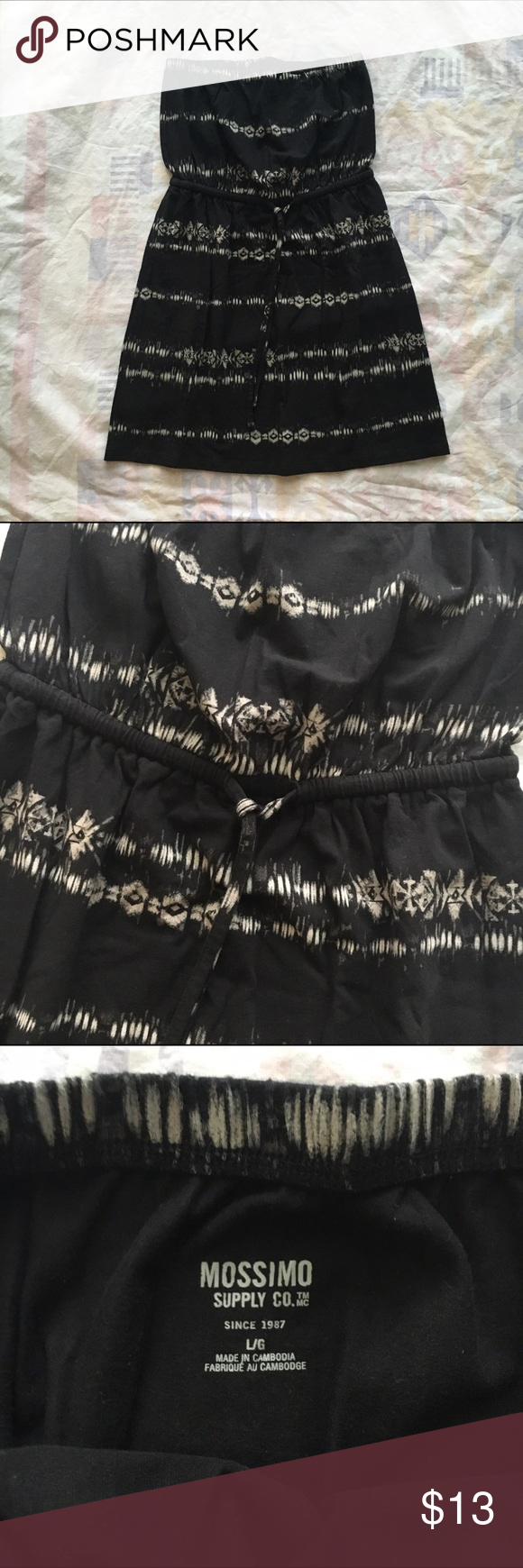 Tribal Print Tube Dress Never worn! Cute lil dress for summer. Great for a cover up or a casual night out. Priced to sell quick but open to offers!  Mossimo Supply Co. Dresses Mini