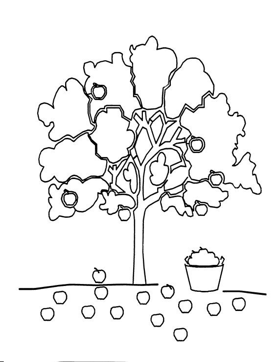 preschool coloring sheets for the giving tree apple tree coloring sheet - Apple Tree Coloring Page
