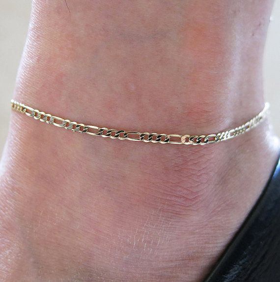 ankle delicate dainty filled pin gold infinity anklet