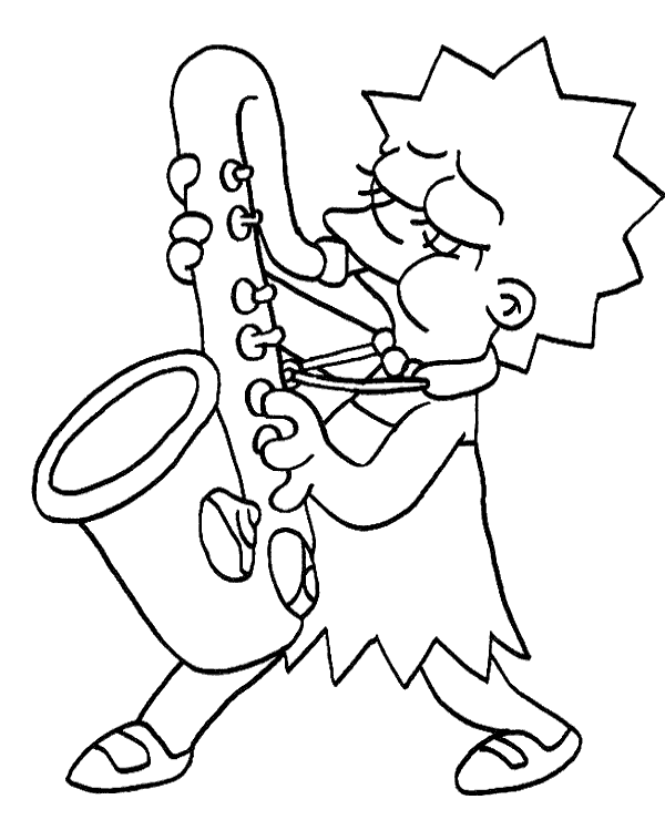 Lisa Simpson Free Coloring Page Simpsons Drawings Simpsons Art Coloring Pages