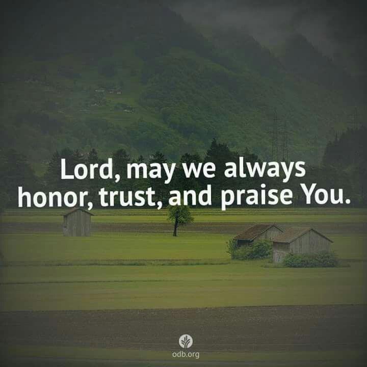 Lord, may we...