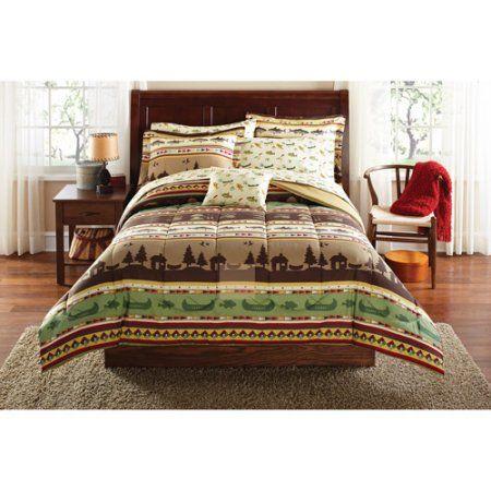 Walmart Bedroom Sets Cool Mainstays Gone Fishing Bed In A Bag Coordinated Bedding Set Decorating Design