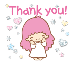 Little Twin Stars: Twinkly Stickers | Gif | Thank you gifs, Hello