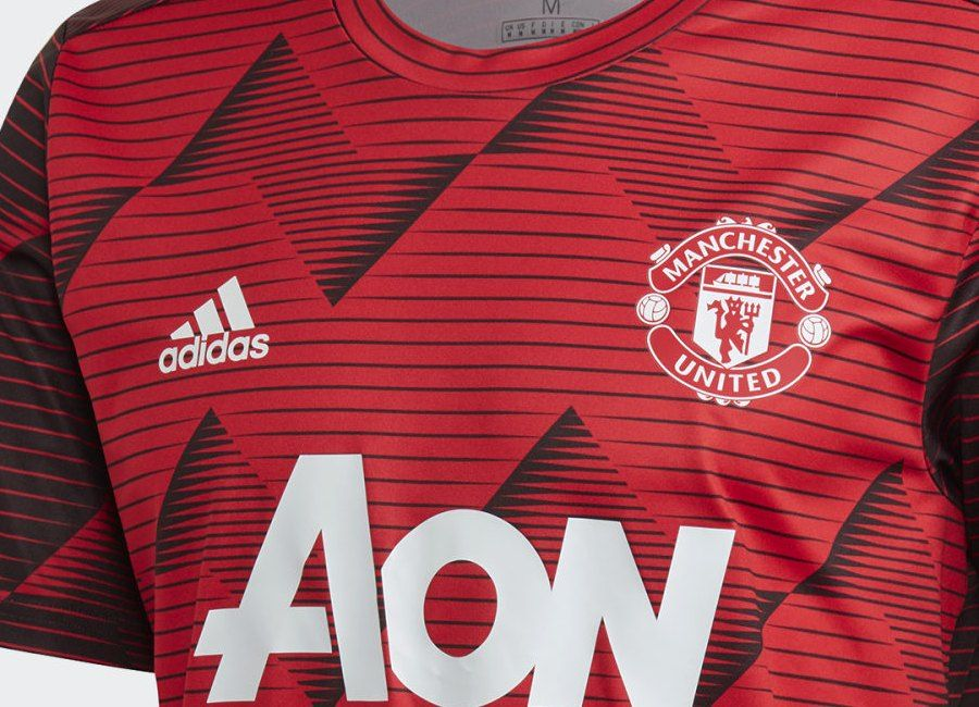 Adidas Manchester United 2019 20 Pre Match Jersey Collegiate Red Solid Grey Manchester United Manchester United Players Real Madrid Players