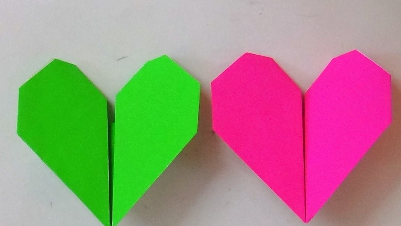 Origami Art How To Make An Origami Beating Heart Origami Art