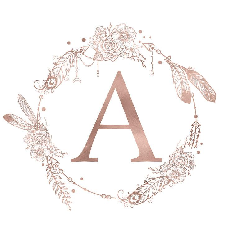 The Letter A Canvas Print By Nature Magick Icanvas In 2021 Monogram Art Monogram Wallpaper Rose Gold Pink