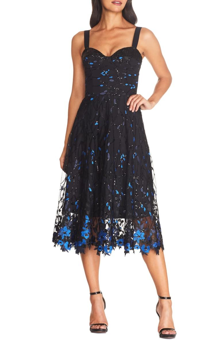 Dress The Population Corina Floral Embellished Fit Flare Cocktail Dress Nordstrom In 2020 Fit And Flare Cocktail Dress Cocktail Dresses Online Dress The Population [ 1196 x 780 Pixel ]