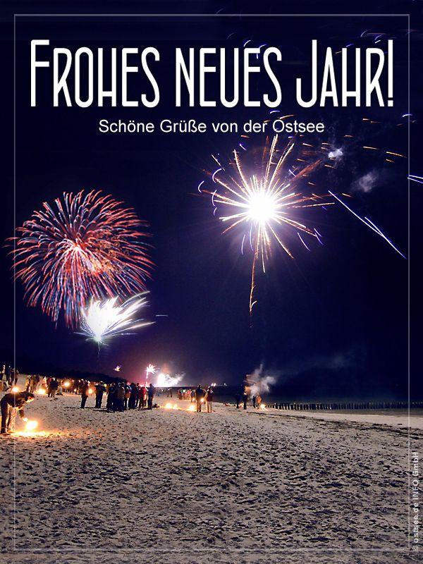 Neujahrsgrüße von der größten Beachparty Silvester am