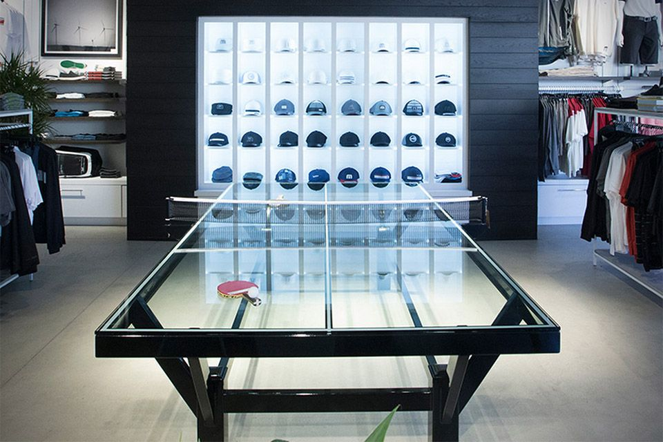 TravisMathew Glass Ping Pong Table