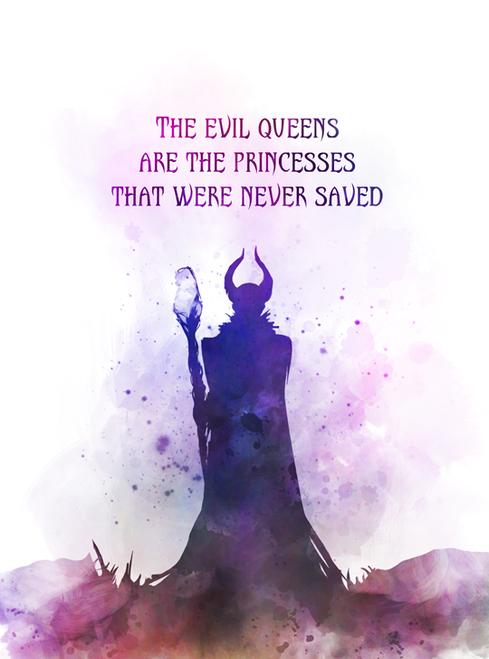 Maleficent Quote Art Print Sleeping Beauty Queen Princess Fairy Tale Gift Wall Art Home Decor Inspiration Maleficent Quotes Art Prints Quotes Maleficent