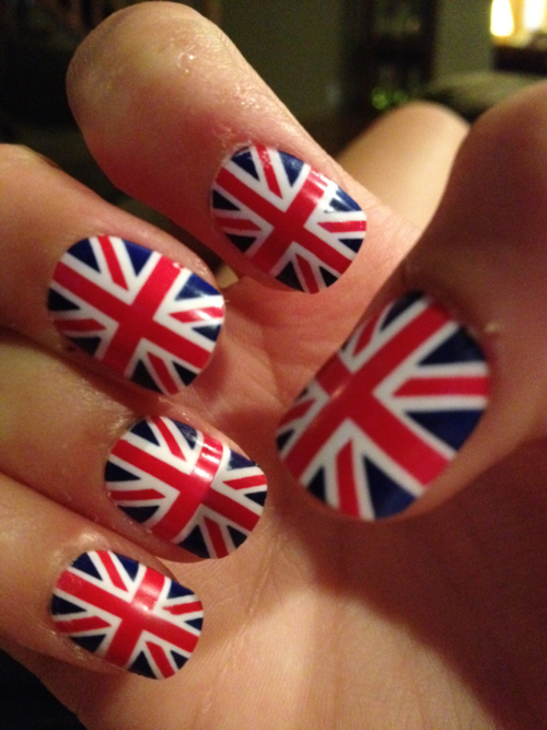United Kingdom Union Jack flag nail decals
