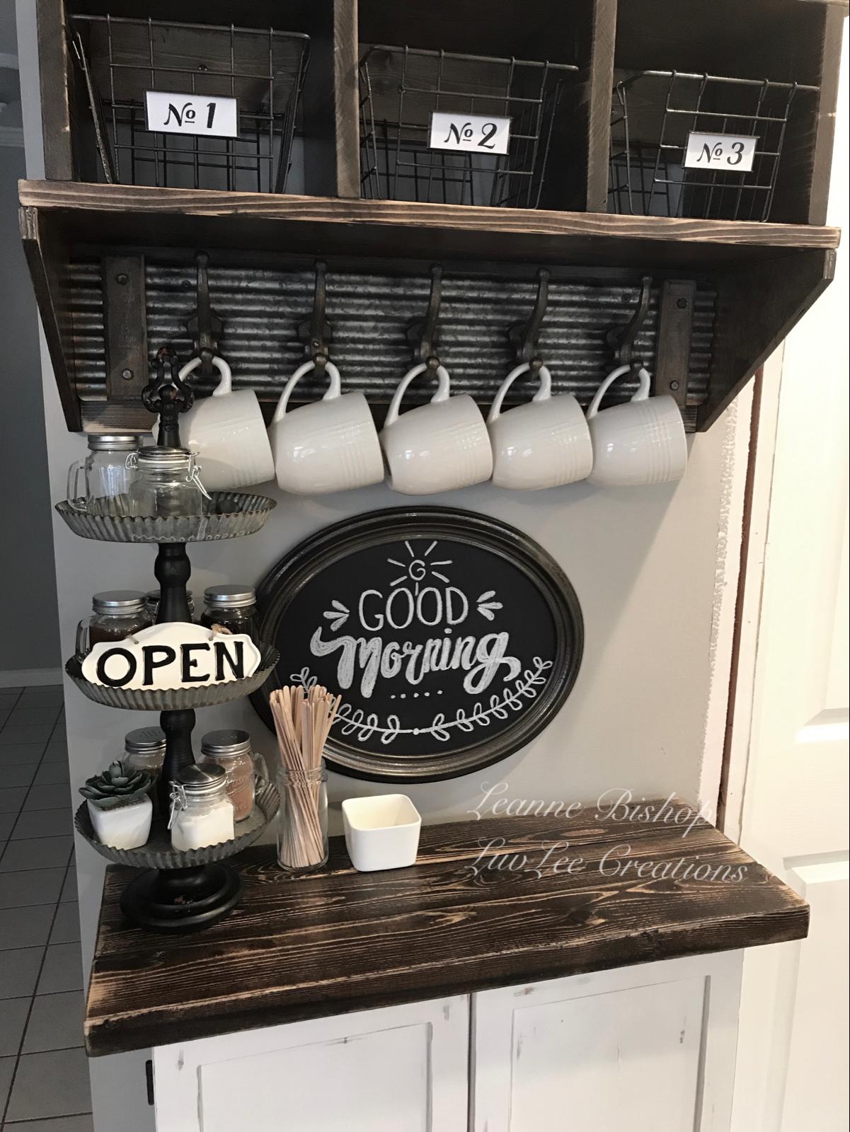 10 Diy Coffee Bar Cabinet Ideas For The Perfect Cup Of Joe Coffeebarideas Rustic Farmhouse Coffee Bar Cabinet With Dark Diy Kaffeebar Kaffeestation Kaffeeecke
