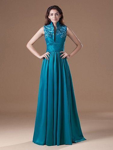 Turtleneck Evening Dresses Formal