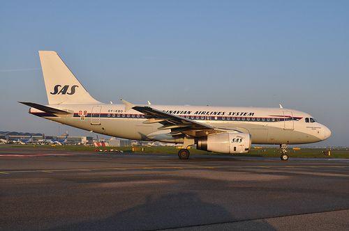 Oy Kbo A319 Sas Retro Scandinavian Airlines System Vintage Aviation Aviation History