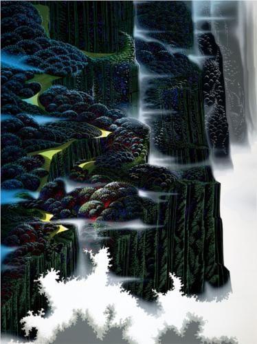 Sea Cliffs Rising | Eyvind Earle | 1995