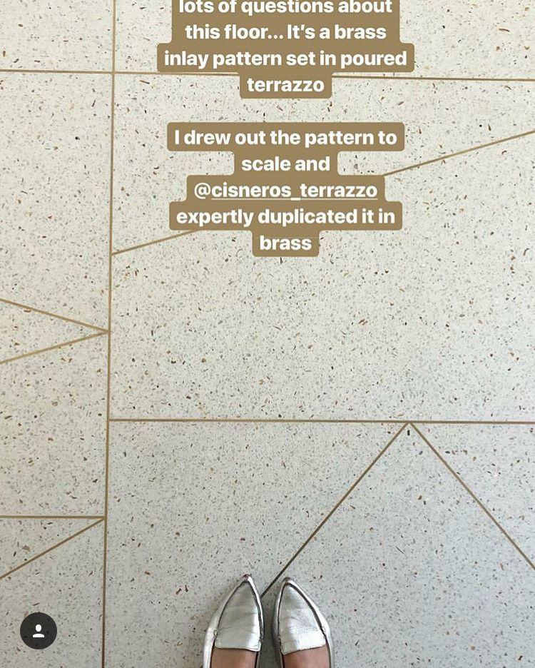 Brass Inlay Terrazzo Floors Flooring Terrazzo Terrazzo