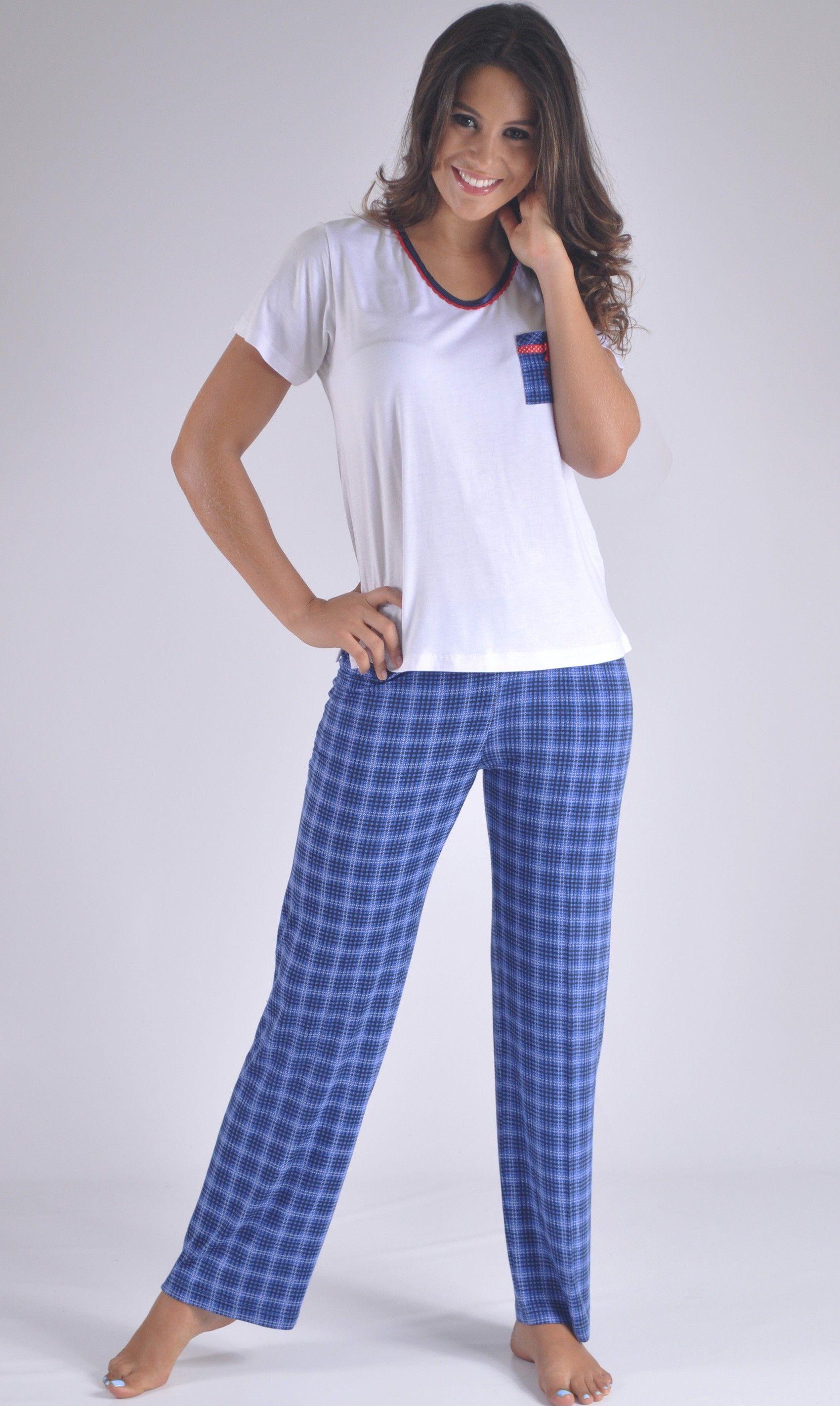 a4a785c69 Pijama fresca en pantalon largo y manga corta, juvenil. Especial ...