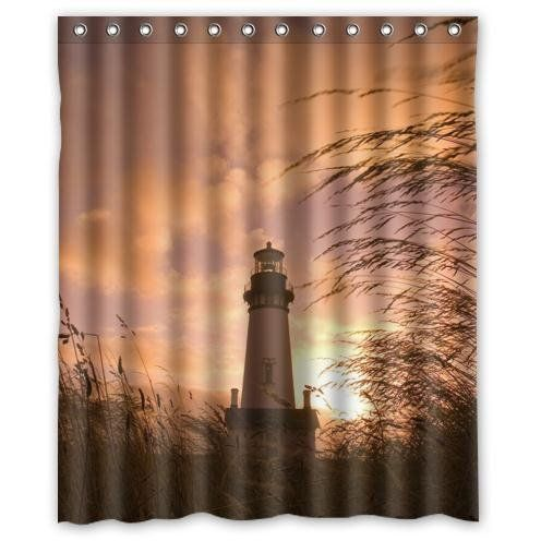 Delicieux Special Design Lighthouse With Sunset Pattern Shower Curtain   Beachfront  Decor