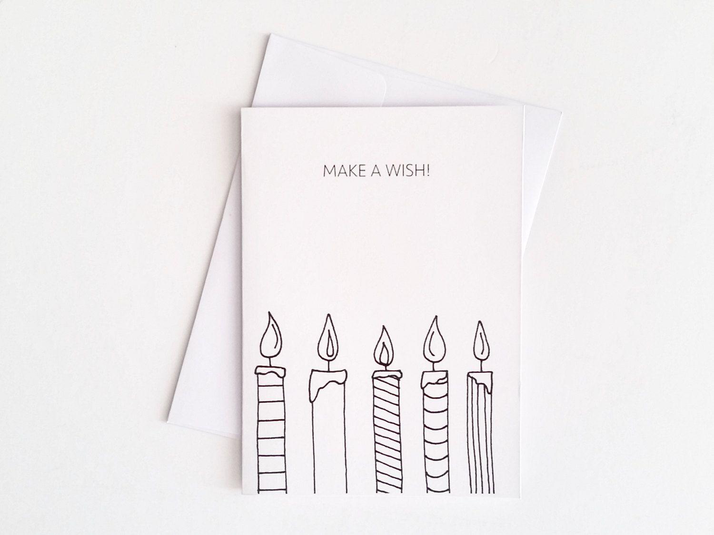 Candle Birthday Card Cute Birthday Card Candle Card Make A