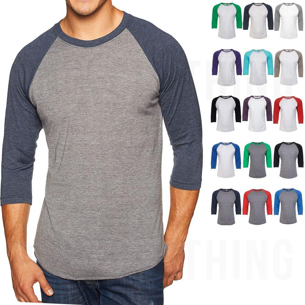 bb309f59c05 Next Level Unisex 3 4 Sleeve Baseball T-Shirt Raglan Tri Blend Tee S-3XL  6051  basballtee  baseballshirt  threequartersleeves