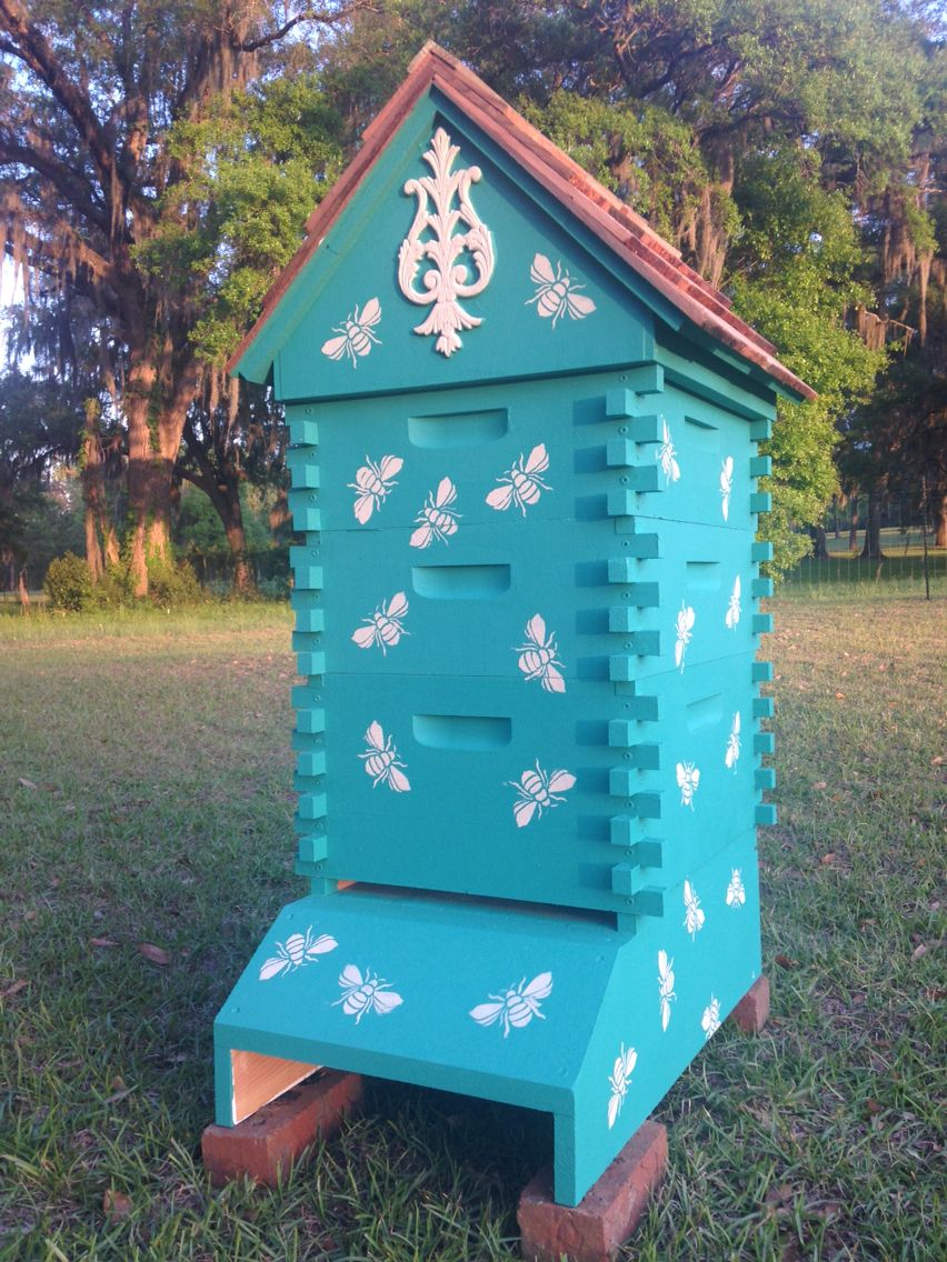Beehive painted in Chalk Paint® by Annie Sloan color Florence. Royal ...