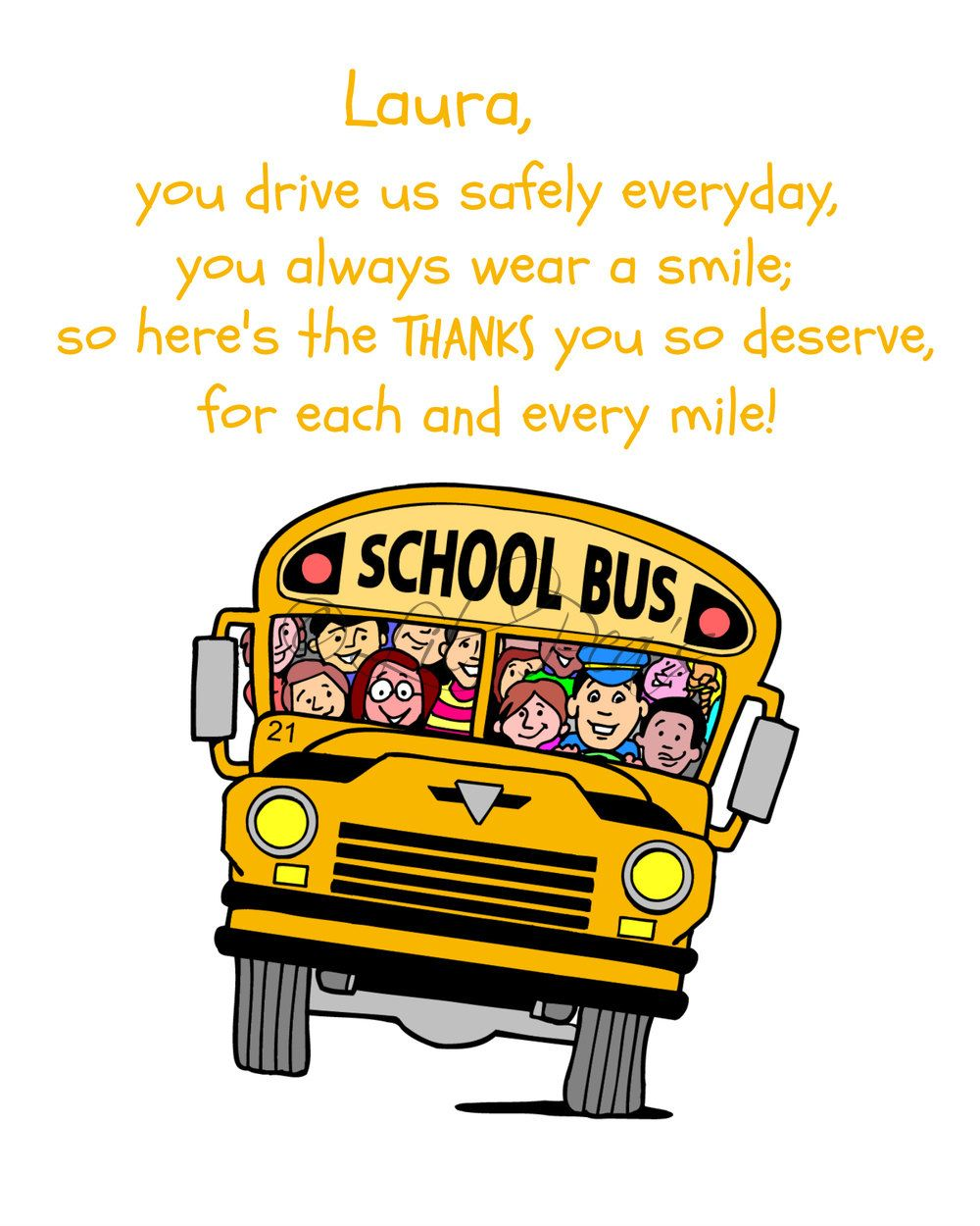 Bus Driver Gift, School Bus Driver Print, Gift for driver