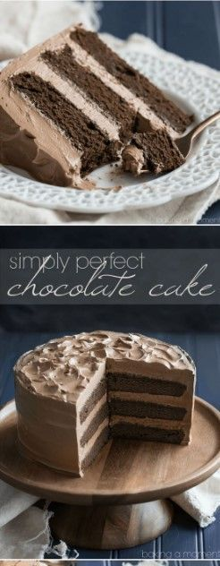Simply Perfect Chocolate Cake #essentrinken