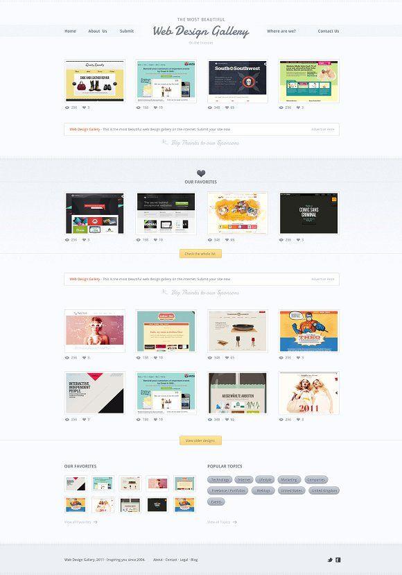 Web Design Gallery Psd Template Web Design Gallery Web Design Psd Templates