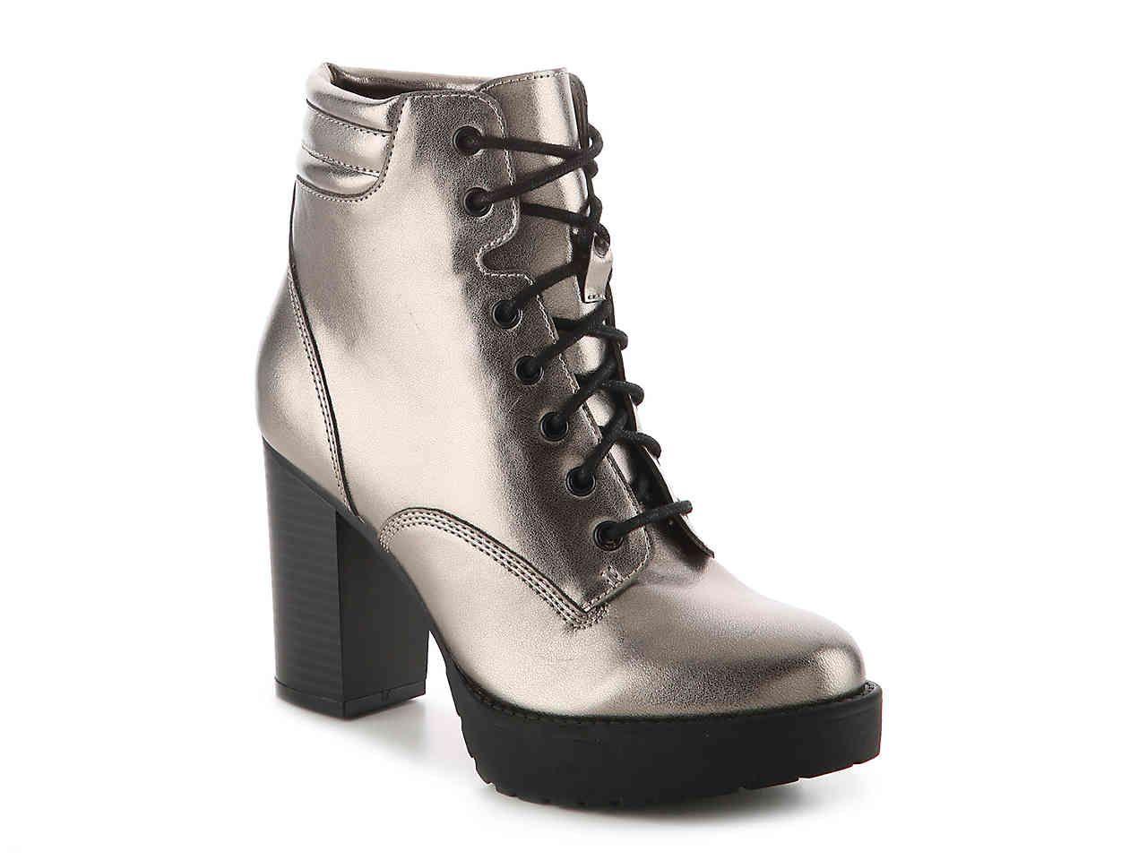 8ec01ac9eb08 Madden Girl Joltz Bootie in Pewter Metallic Women s Shoes