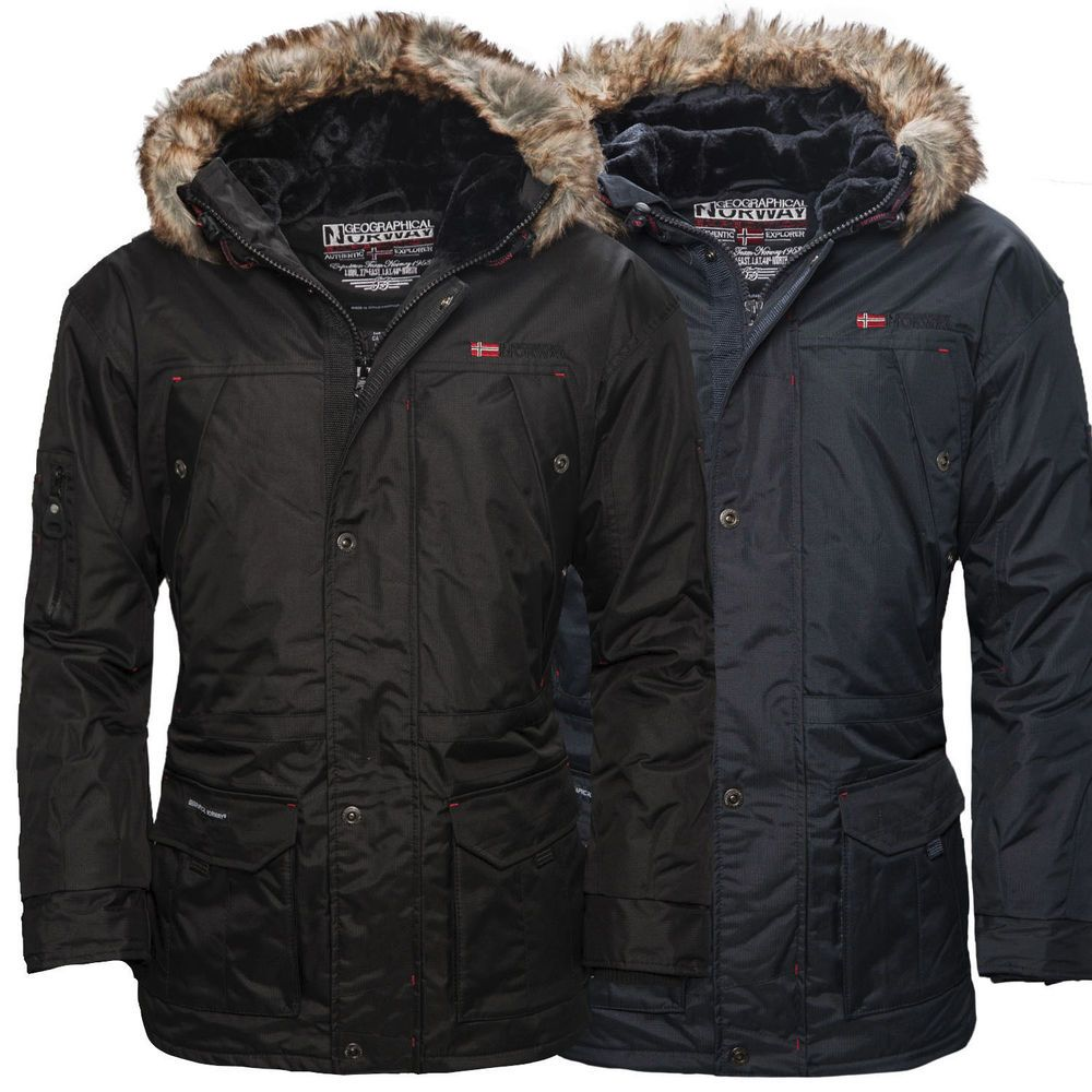Geographical norway alaska herren winterjacke parka