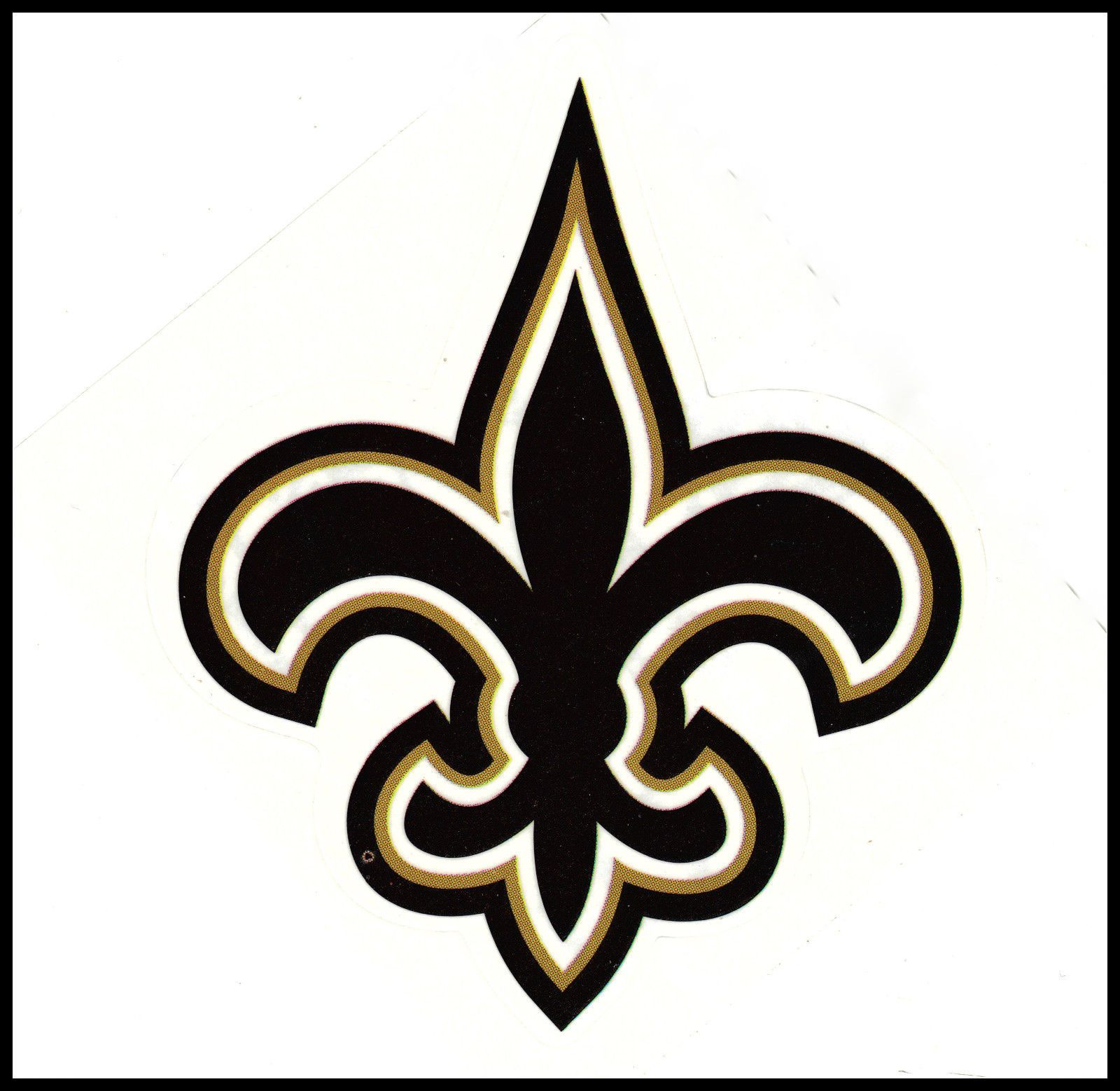 New Orleans Saints Football Nfl Team Logo Design Decal Sticker Bogo 25 Off Ebay New Orleans Saints Logo New Orleans Saints Nfl Teams Logos [ 1558 x 1600 Pixel ]