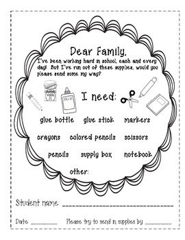 i need cute letter to send home when your students need more