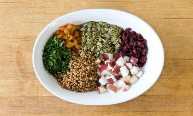 Harvest Wheat BerrySalad Recipe - Relish
