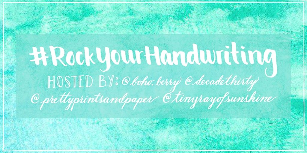 Who's ready for a new #RockYourHandwriting Challenge? I know I am! #RockYourHandwritingis a challenge that I host each month with Dee (Decade Thirty), Kim (Tiny Ray of Sunshine), and Jessica (Pretty Prints & Paper). We saw a huge desire in the community to improve your handwriting, and sowe beganthe challenge on Instagram last month. WeRead more