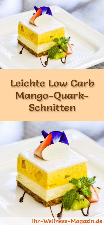 leichte low carb mango quark schnitten ohne backen rezepte ohne zucker low carb rezepte. Black Bedroom Furniture Sets. Home Design Ideas