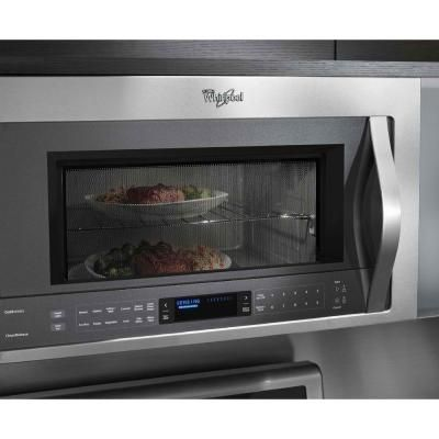 Whirlpool 2 1 Cu Ft Over The Range Microwave In Stainless Steel With Sensor Cooking Wmh73521cs The Over The Range Microwaves Convection Cooking Microwave