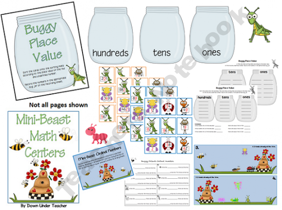 MiniBeast Math Centers 60 Place Value Ordinal Numbers Patterns Simple Place Value And Patterns